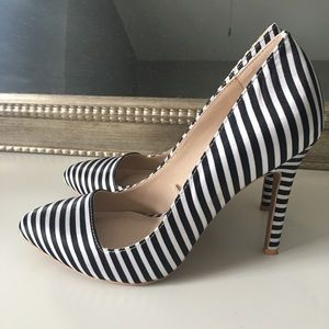 Forever 21 Pinstriped Heels